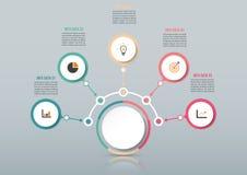 Abstrakcjonistyczny infographics liczby opcj szablon również zwrócić corel ilustracji wektora może używać dla obieg układu, diagr Zdjęcie Royalty Free