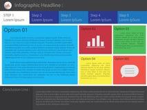 Abstrakcjonistyczny infographics liczby opcj szablon również zwrócić corel ilustracji wektora może używać dla obieg układu, diagr Zdjęcia Royalty Free