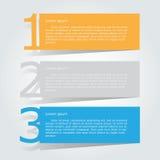 Abstrakcjonistyczny infographics liczby opcj szablon również zwrócić corel ilustracji wektora może używać dla obieg układu, diagr Obraz Stock