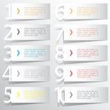 Abstrakcjonistyczny infographics liczby opcj szablon również zwrócić corel ilustracji wektora może używać dla obieg układu, diagr Fotografia Royalty Free