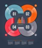 Abstrakcjonistyczny infographics projekt Zdjęcie Royalty Free