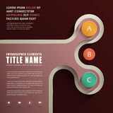 Abstrakcjonistyczny infographics projekt Obraz Royalty Free