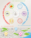 Abstrakcjonistyczny infographics szablon z ikonami Obrazy Stock
