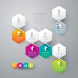 Abstrakcjonistyczny infographics szablonu projekt. Obrazy Royalty Free