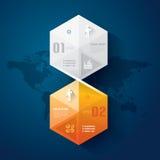 Abstrakcjonistyczny infographics szablonu projekt. Obraz Stock