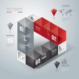 Abstrakcjonistyczny infographics szablonu projekt. Zdjęcia Stock
