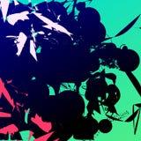 Abstrakcjonistyczny inkblot szablon dla nowożytnego projekta Royalty Ilustracja