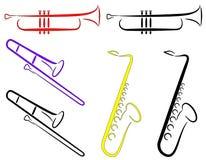 abstrakcjonistyczny instrumentów musicalu wektor Obraz Royalty Free