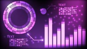 Abstrakcjonistyczny interfejs technologii cyfrowej purpur tło ilustracja wektor