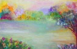 Abstrakcjonistyczny irrealny, fantastyczny krajobraz, Obraz Royalty Free