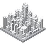 Abstrakcjonistyczny Isometric miasto Obraz Stock