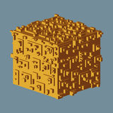 Abstrakcjonistyczny isometric sześcianu logo również zwrócić corel ilustracji wektora Odosobniona ikona elementy projektu podobie royalty ilustracja