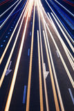 Abstrakcjonistyczny Istny Ruch drogowy Drogi Tło Obraz Stock