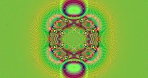 Abstrakcjonistyczny jaskrawy żywo barwiony psychodeliczny rozblaskowy poruszający fractal tło ilustracja wektor