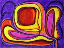 abstrakcjonistyczny jaskrawy Zdjęcie Royalty Free