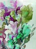 Abstrakcjonistyczny jaskrawy barwiony dekoracyjny t?o Kwiecisty deseniowy handmade Pi?kny czu?y romantyczny bukiet irysowi kwiaty ilustracja wektor
