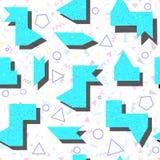 Abstrakcjonistyczny jaskrawy barwiony geometryczny wzór w stylu 80 Zdjęcie Royalty Free