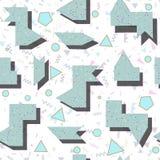 Abstrakcjonistyczny jaskrawy barwiony geometryczny wzór w stylu 80 Fotografia Royalty Free
