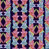 Abstrakcjonistyczny jaskrawy etniczny koloru motyl uskrzydla inspirowanych kształty, zmrok - błękitny tło ilustracja wektor
