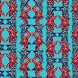 Abstrakcjonistyczny jaskrawy etniczny koloru motyl uskrzydla inspirowanych kształty Fotografia Stock