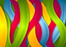 Abstrakcjonistyczny jaskrawy falisty lampasa tło Zdjęcie Royalty Free