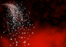 Abstrakcjonistyczny Jaskrawy i Połyskuje Spada gwiazdy ogonu szablon Zdjęcie Stock