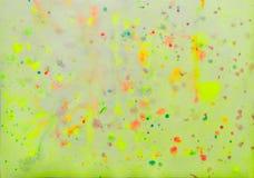 Abstrakcjonistyczny Jaskrawy Kolorowy pociągany ręcznie tło akwareli pluśnięcie ilustracja wektor