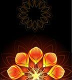 Abstrakcjonistyczny jaskrawy kwiat Obrazy Stock