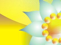 abstrakcjonistyczny jaskrawy kwiat royalty ilustracja