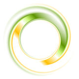 Abstrakcjonistyczny jaskrawy loga pierścionek Zdjęcia Royalty Free