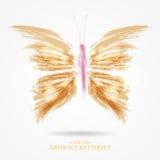Abstrakcjonistyczny jaskrawy motyl Zdjęcia Royalty Free