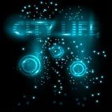Abstrakcjonistyczny jaskrawy rozjarzony tło Miasto żywy wektor Zdjęcia Stock
