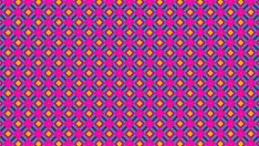 Abstrakcjonistyczny jaskrawy seamlees wzór Śliczny materiał filmowy z geometrycznymi kształtami Usterki pojęcie Zapętlająca anima zdjęcie wideo