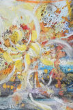 abstrakcjonistyczny jaskrawy szczotkarski obraz royalty ilustracja