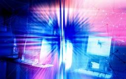 Abstrakcjonistyczny jaskrawy tło z oświetleniowym skutkiem dla kreatywnie projekta zdjęcie royalty free