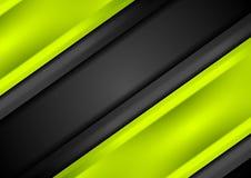 Abstrakcjonistyczny jaskrawy - zieleń lampasów gładki tło ilustracji