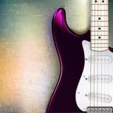abstrakcjonistyczny jazz skały grunge tło z elektrycznym Zdjęcie Stock