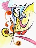 Abstrakcjonistyczny jazzowy saksofonista ilustracja wektor