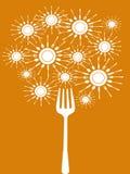 abstrakcjonistyczny jedzenie wytłaczać wzory drzewa Obrazy Stock