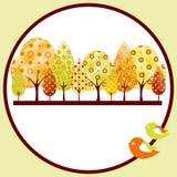abstrakcjonistyczny jesień karty powitania drzewo Obraz Stock