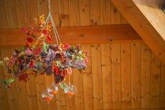 Abstrakcjonistyczny jesień skład z przejrzystymi sferami Zdjęcie Royalty Free