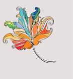 abstrakcjonistyczny jesienny liść Obraz Stock