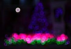 Abstrakcjonistyczny kółkowy bokeh tło Christmaslight 3 Obraz Stock