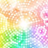 Abstrakcjonistyczny kółkowy kolorowy tło Fotografia Stock