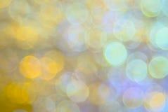 Abstrakcjonistyczny kółkowy miękki kolorowy bokeh tło tworzył neonowymi światłami Zdjęcia Royalty Free
