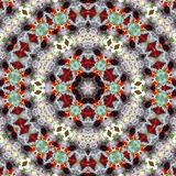 Abstrakcjonistyczny kalejdoskopowy antykwarski tło ilustracja wektor