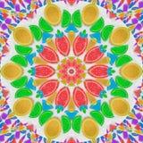 Abstrakcjonistyczny kalejdoskopu wzoru tło owocowej galarety tęcza klinuje plasterki na białego cukieru piaska tle Cukierki kalej Obrazy Royalty Free