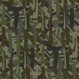 Abstrakcjonistyczny kamuflaż powtarza bezszwowego wzór ilustracji zieleń textured royalty ilustracja