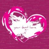 abstrakcjonistyczny karciany dzień powitania s valentine Fotografia Royalty Free