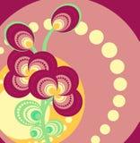 abstrakcjonistyczny karciany kwiecisty Zdjęcie Stock